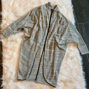 mossimo grey sweater tunic cardigan